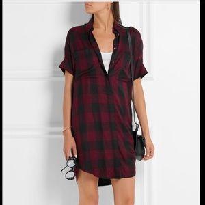 Madewell Red Plaid Oversized Dress W/Pockets! XS